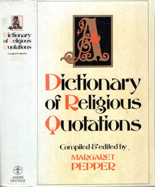 Image for A DICTIONARY OF RELIGIOUS QUOTATIONS
