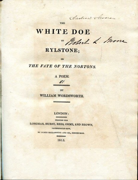 Image for The White Doe of Rylstone ; or The Fate of the Nortons - A Poem