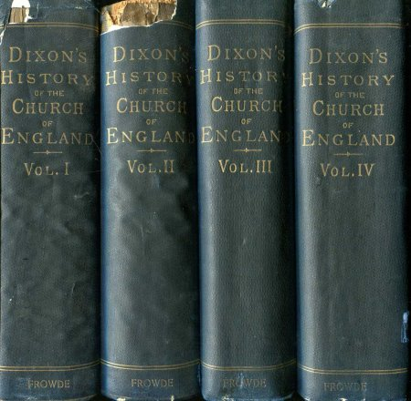 Image for HISTORY OF THE CHURCH OF ENGLAND FROM THE ABOLITION OF THE ROMAN JURISDICTION (vols 1-4 of 6)