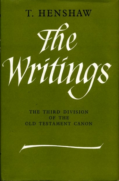 Image for THE WRITINGS the third division of the Old Testament Canon