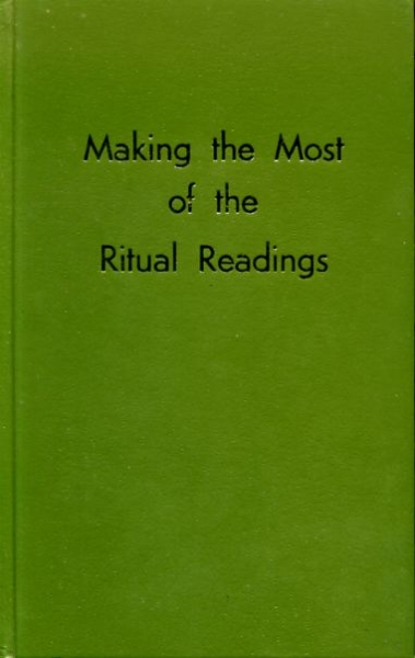Image for MAKING THE MOST OF THE RITUAL READINGS