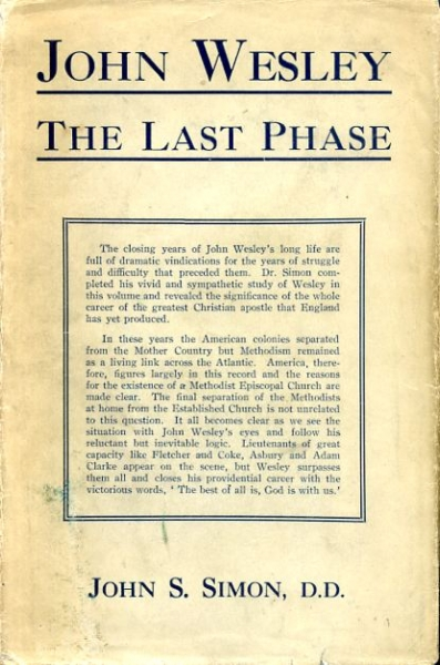 Image for JOHN WESLEY The Last Phase