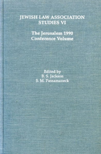 Image for JEWISH LAW ASSOCIATION STUDIES VI THE JERUSALEM 1990 CONFERENCE VOLUME