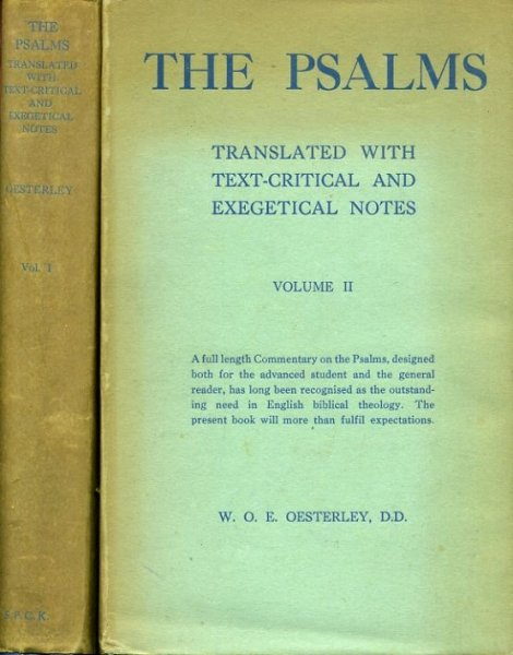 Image for THE PSALMS, translated with text-critical and exegetical notes (two volumes)
