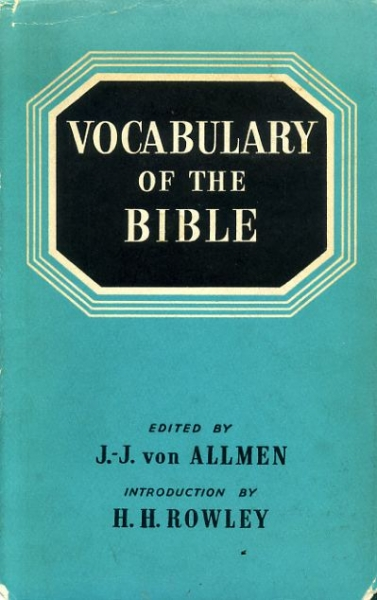 Image for VOCABULARY OF THE BIBLE