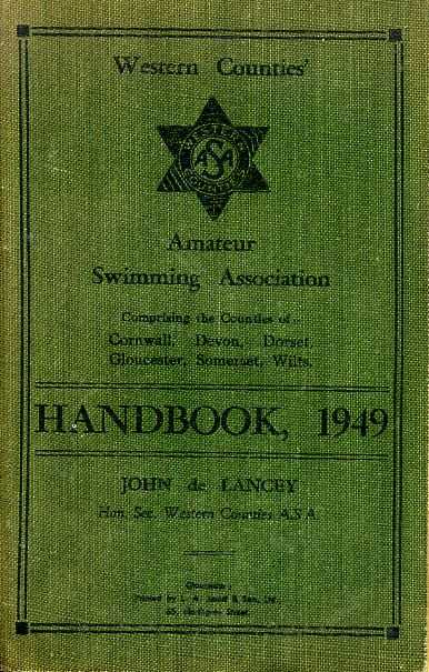 Image for AMATEUR SWIMMING ASSOCIATION, WESTERN COUNTIES HANDBOOK together with The National Handbook