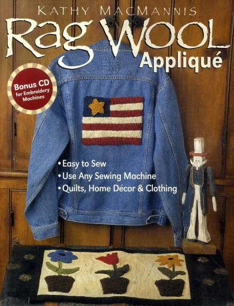 Image for RAG WOOL APPLIQUE Easy to Sew: Use any sewing machine: Qulits, Home Decor & Clothing