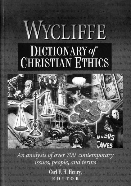 Image for WYCLIFFE DICTIONARY OF CHRISTIAN ETHICS