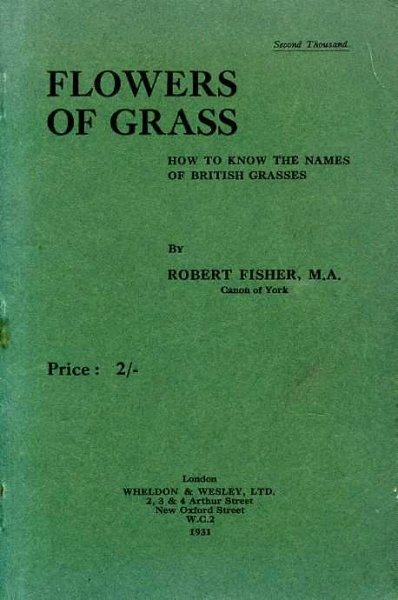 Image for FLOWERS OF GRASS How to know the names of British Grasses