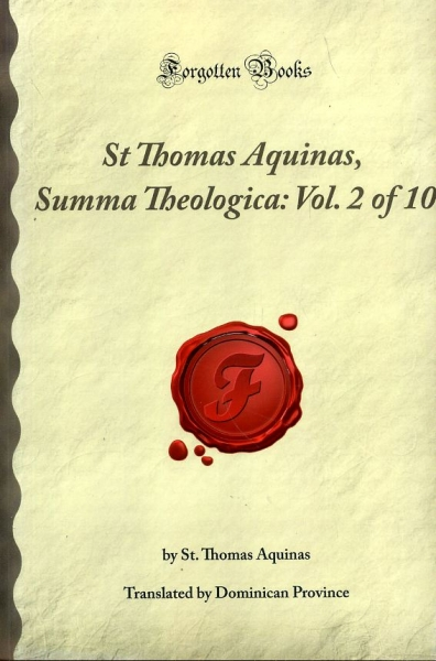 Image for ST THOMAS AQUINAS SUMMA THEOLOGICA: Vol 2 of 10