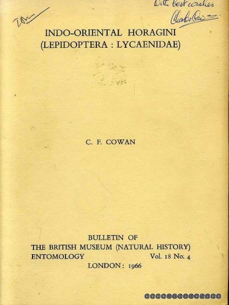 Image for INDO-ORIENTAL HORAGINI (Lepidoptera: Lycaenidae) Bulletin of the British Museum (Natural History) Vol 18, No 4