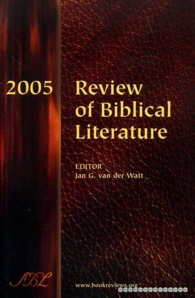 Image for 2005 REVIEW OF BIBLICAL LITERATURE