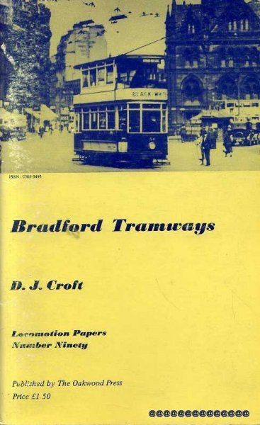 Image for Locomotion Papaers Number Ninety : Bradford Tramways