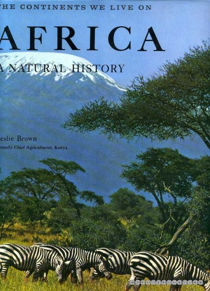 Image for AFRICA:  A NATURAL HISTORY