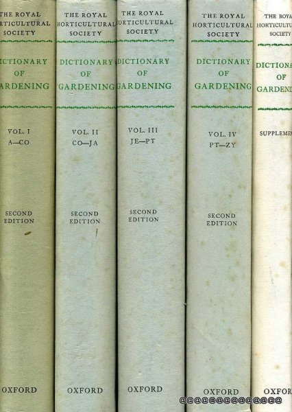 Image for Dictionary of Gardening a practical and scientific encyclopaedia of horticulture (four volumes + Supplement)
