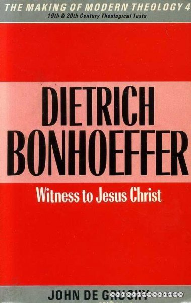 Image for DIETRICH BONHOEFFER, witness to Jesus Christ