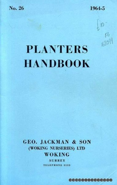 Image for PLANTERS HANDBOOK 1964-5