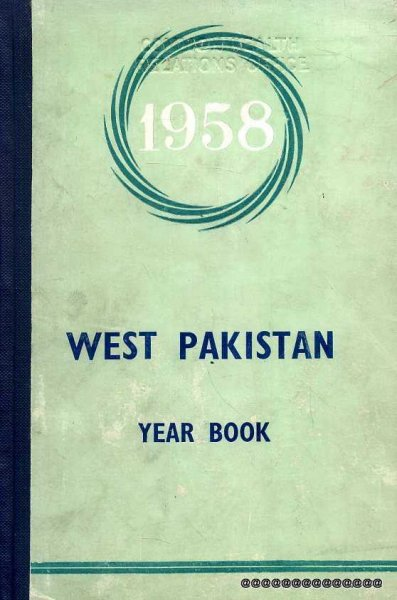 Image for West Pakistan Year Book 1958