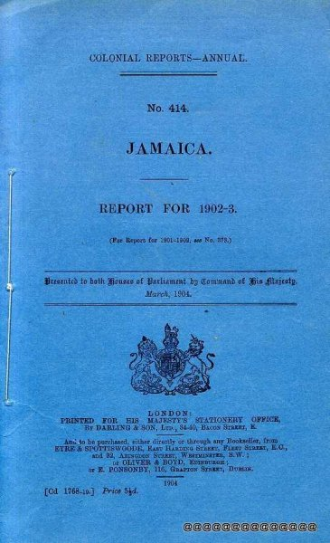 Image for Colonial Reports-Annual No 414: Jamaica Report for 1902-3