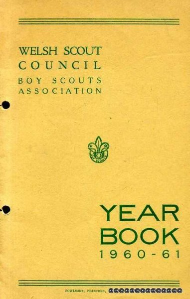 Image for Welsh Scout Council  Boy Scouts Association Year Book 1960-61