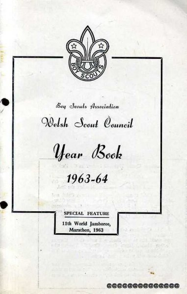 Image for Welsh Scout Council  Boy Scouts Association Year Book 1963-64