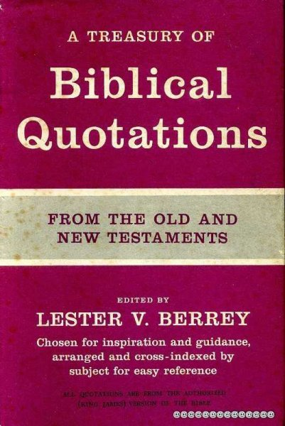 Image for A Treasury of Biblical Quotations