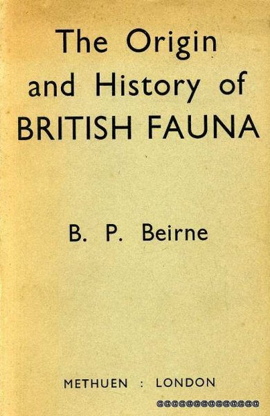 Image for The Origin and History of British Fauna