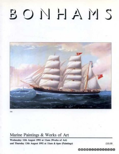 Image for Bonhams: Marine Paintings and Works of Art 12th & 13th August 1992