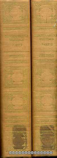 Image for Miscellaneous Writings [of Henry Fielding] 2 volumes