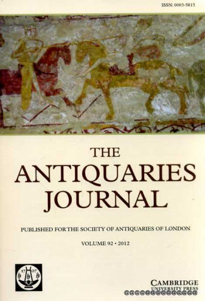 Image for The Antiquaries Journal volume 92 : 2012 Being the Journal of the Society of Antiquaries of London