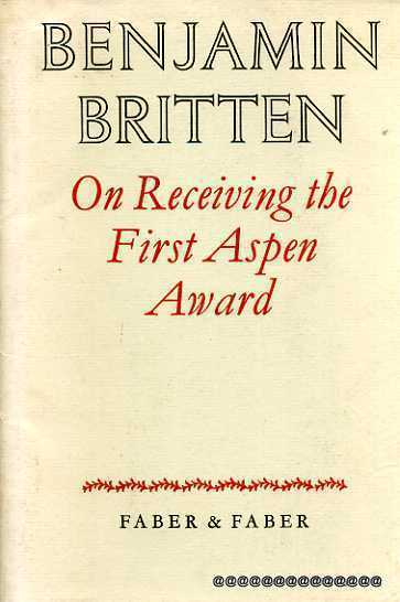 Image for On Receiving the First Aspen Award