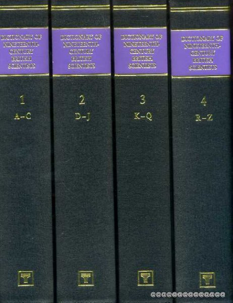 Image for The Dictionary Of Nineteenth-Century British Scientists (four volumes)