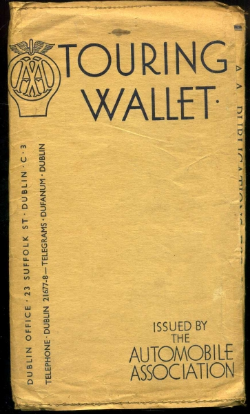 Image for Touring Wallet of the Irish Automobile Association