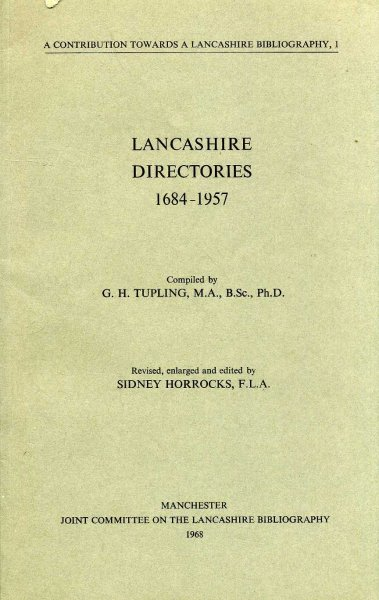 Image for Lancashire Directories 1684-1957