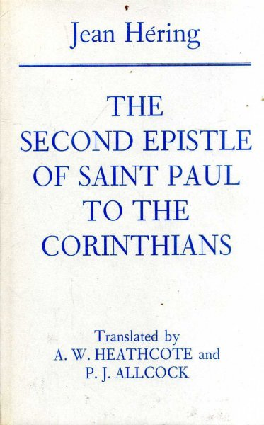 Image for THE SECOND EPISTLE OF SAINT PAUL TO THE CORINTHIANS