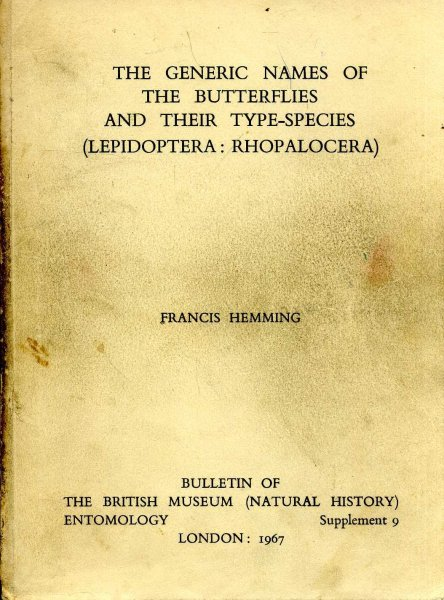 Image for The Generic Names of the Butterflies and their type-species (Lepidoptera: Rhopalocera)