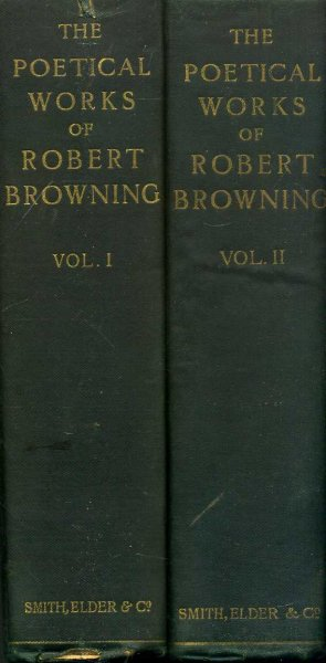 Image for The Poetical Works of Robert Browning with portraits (two volumes)