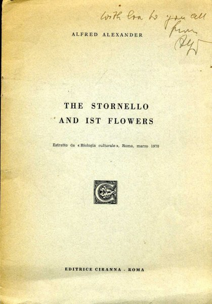 Image for The Stornello and Its Flowers
