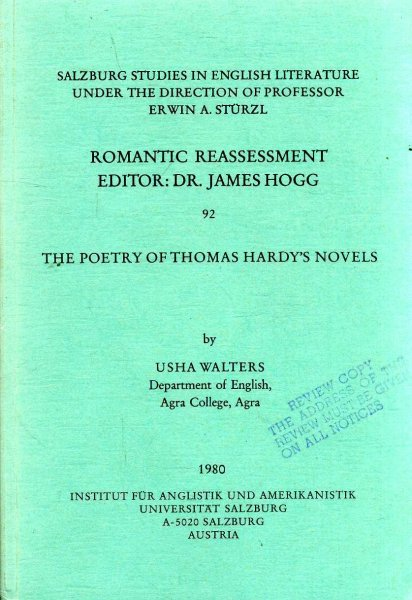 Image for The Poetry of Thomas Hardy's Novels