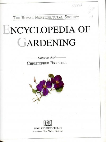 Image for The Royal Horticultural Society Encyclopedia of Gardening