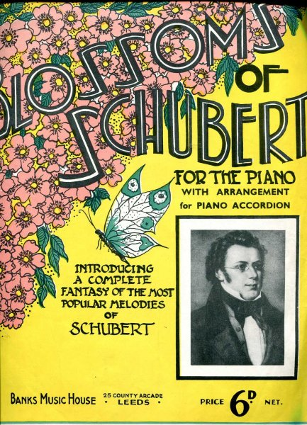 Image for Blossoms of Schubert for the piano with arrangement for piano accordion