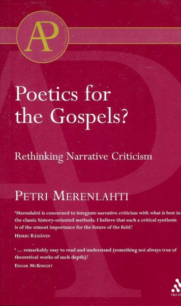 Image for Poetics For The Gospels?: Rethinking Narrative Criticism