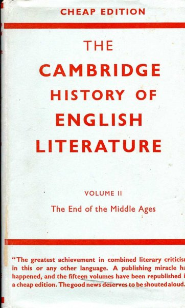 Image for The Cambridge History of English Literature, volume ii The End of the Middle Ages