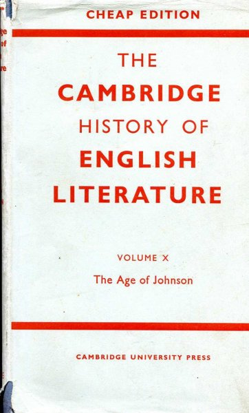 Image for The Cambridge History of English Literature, volume x The Age of Johnson