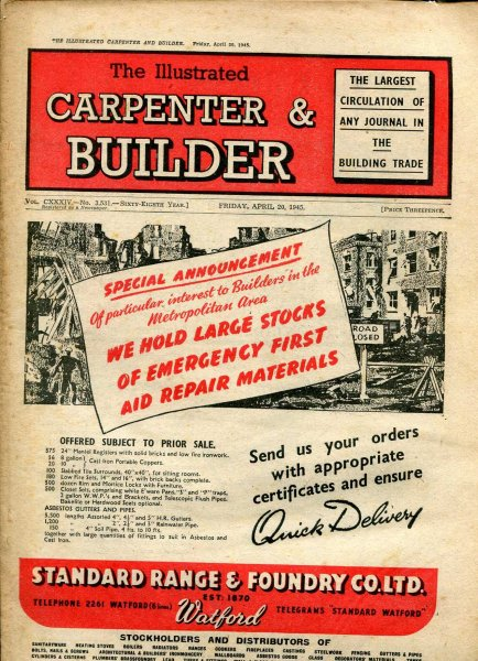 Image for The Illustrated Carpenter & Builder April 1945 (two issues)