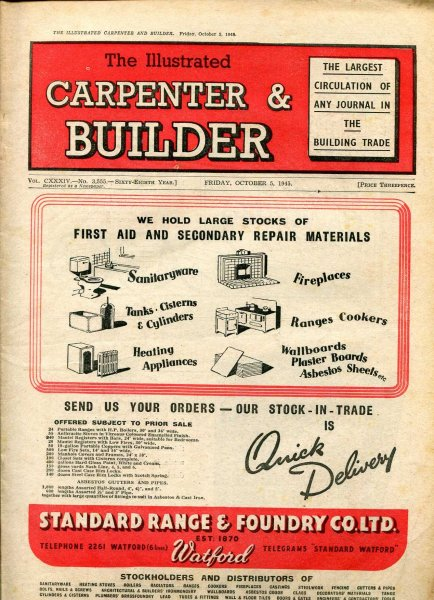 Image for The Illustrated Carpenter & Builder October 1945 (three  issues)