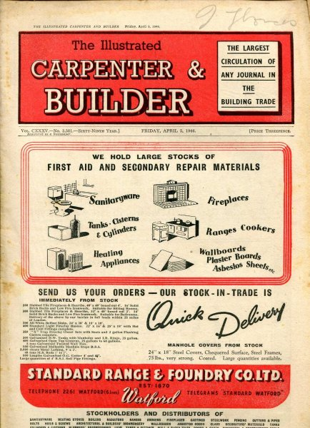Image for The Illustrated Carpenter & Builder April 1946 (four  issues)