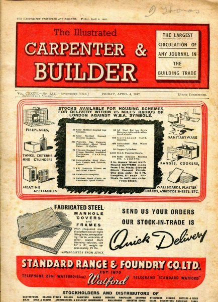 Image for The Illustrated Carpenter & Builder April 1947 (four  issues)