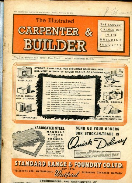 Image for The Illustrated Carpenter & Builder February 1948 (two issues)