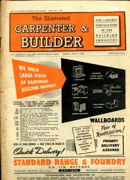 Image for The Illustrated Carpenter & Builder July 1949 (three issues)